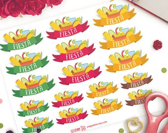 Mexican Food Stickers | Taco Night | Burrito Stickers | Taco Tuesday | Fast Food stickers |  Taco Stickers | Meal Stickers
