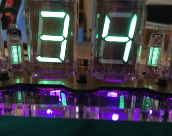 IV-11 USB powered VFD tube (Vacuum Fluorescent Display) clock with fully programmable Rgb leds & alarm