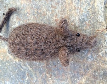 Knitted Felted Mouse Fridge Magnet