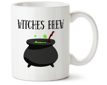 Coffee Mug, Witches Brew, Halloween Mug, Funny Mug, Halloween Cup, Witch Mug, Witch Cup,