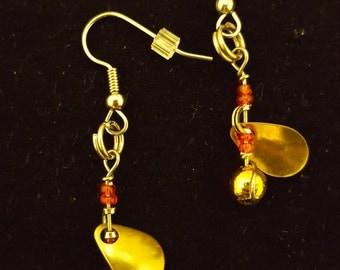 Fishing spinner earrings
