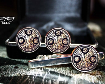Only tie clip Time Lord Seal, Dr Who Tie clip, Time lord Doctor Who tie clip