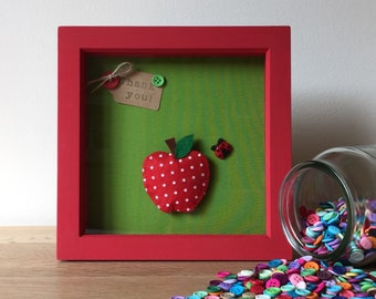 REDUCED Thank You Teacher Box Frame Picture Gift - Personalised