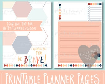 Happy Planner PRINTABLE Filler Pages   Planner Refills / Inserts - 7 x 9.25   Starfish   Create 365   Me & My Big Ideas   mambi   Undated