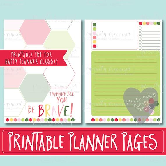 Happy Planner Calendar Refills : Happy planner printable filler pages refills