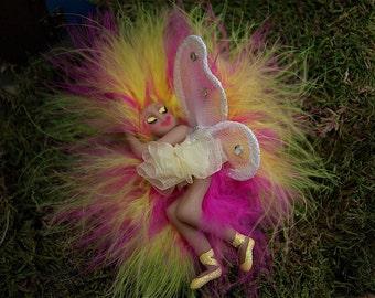 Fairies, Sleeping Fairy (pink and yellow)