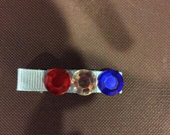 Blue ribbon barrette
