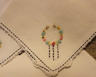 Vintage hand stitched napkins