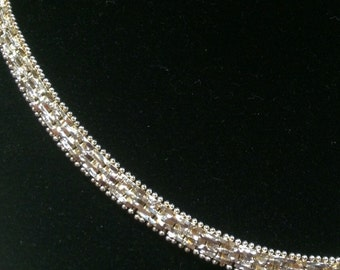 Italian Sterling Silver Link Detailed Chain
