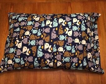 Whale Print Pillowcase