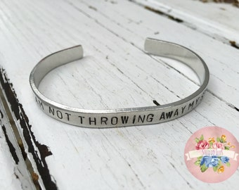 Hamilton Musical Bracelet - I am not throwing away my shot - Gift for her - gift for him - Christmas gift - Handstamped Silver Bracelet