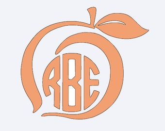 Monogram Georgia Peach Vinyl Decal