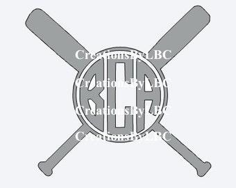 Softball/Baseball Bat Monogram