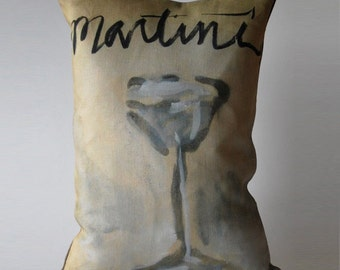 Martini Time Pillow