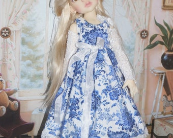 Blue delight dress By 2snsb fits Kaye Wiggs MSD size such as Thalessa, Miki, Layla