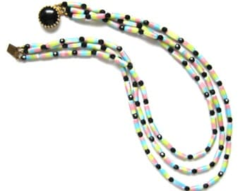 1960s Vintage Triple Strand Sweetie Necklace | FREE DELIVERY