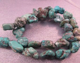 Turquoise Nuggets Beads 37pcs