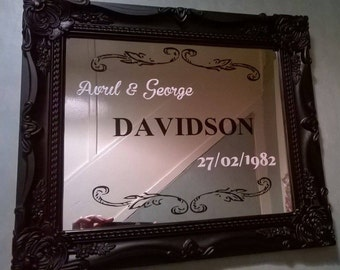 "Personalised Mirrors approx 15"" x 13"""