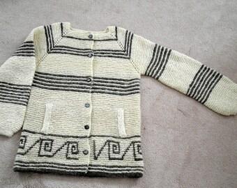 Greek Key Sweater