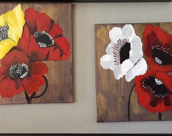 Beautiful 20x20 Flower Painting (set)