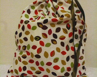 Autumn Leaves Drawstring Bag