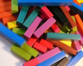 Plastic Sticks Rainbow Colored Sticks Detash Repurpose Craft Supplies Rectangular Sticks