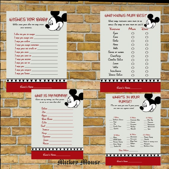 sale mickey mouse baby shower games print your own instant