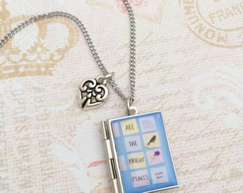 All the Bright Places Miniature Book Locket Necklace