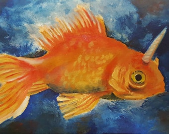 Magic in a Fishbowl oil painting