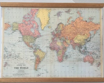 Cavallini World Vintage Hanging Map
