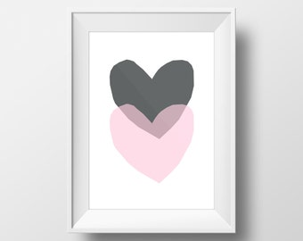 Much Love hearts print