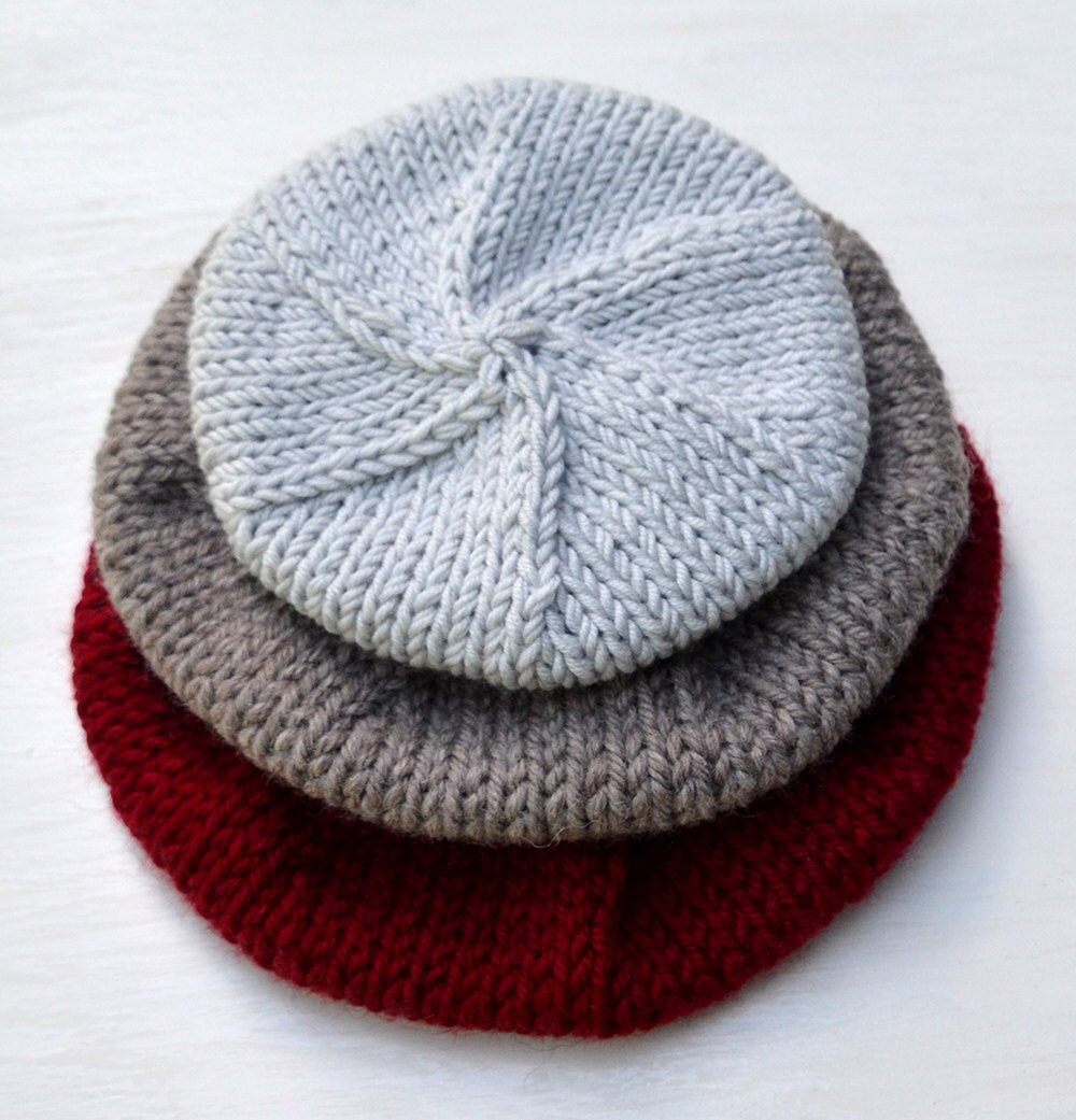 Beret knitting pattern modern beret knitting design hat knit beret knitting pattern modern beret knitting design hat knit pattern slouchy beanie pdf download knitting pattern baby adult bankloansurffo Images
