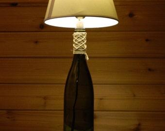Green tint Wine Bottle Lamp