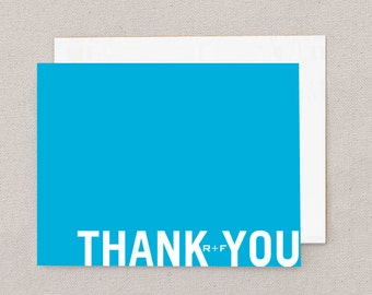 thank you notecards // blue // 8-pk // printed or pdf available // Rodan+Fields inspired