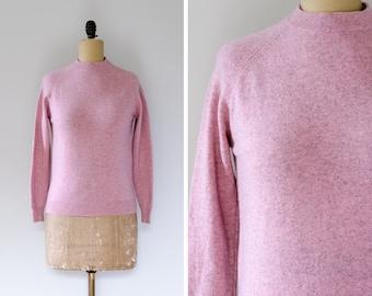 Trow Mill Weavers Pink Crewneck Lambswool Sweater // Made in Scotland - Women's S/M