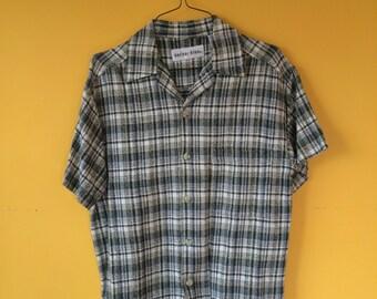 VTG Polar Blue Short Sleeve Buttondown (Small)