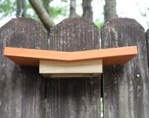 The Ledge | A Modern Birdhouse / Nesting Ledge / Nesting Platform / Nesting Shelf for Robins, Phoebes, Mourning Doves