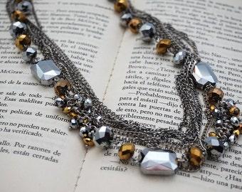 Ochre stones necklace