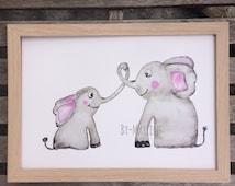 Children's poster elephants