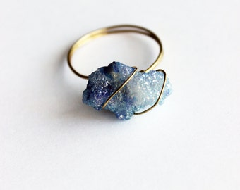 baby blue crystal ring