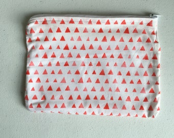Pink triangles zipper pouch