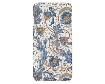 iPhone case iPhone SE case floral iPhone 6 7 case iPhone 5 5s cover blue iPhone 6 7 Plus iPhone 4 4S case Samsung S6 Galaxy S4 S5 S7 case