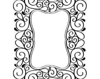 Scroll Frame Embossing Folder - Card Embossing - Frame Embossing Folder - Frame Embossing - Scroll Frame Emboss Folder