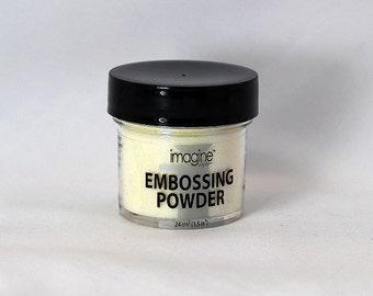 Iridescent Embossing Powder - Embossing Powder - White Embossing Powder - Emboss Powder - White Emboss Powder - White Embellishment