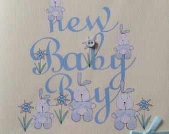 Baby boy' greetings card