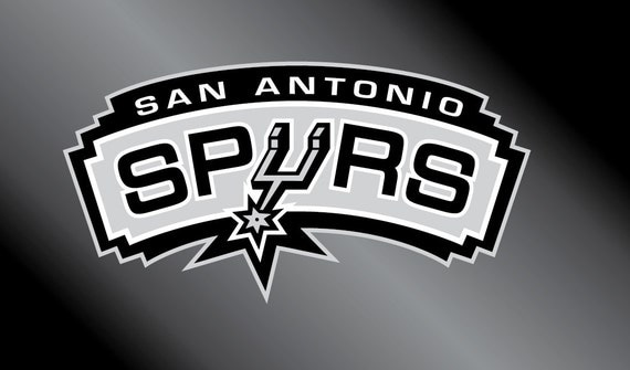 San antonio spurs decal sticker by tootwistedgraphics on etsy for Vinyl lettering san antonio