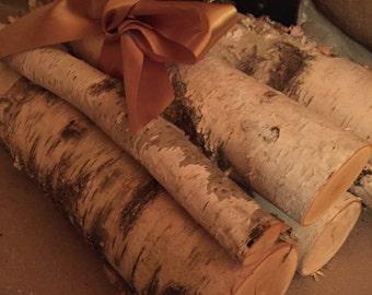 White birch log bundle