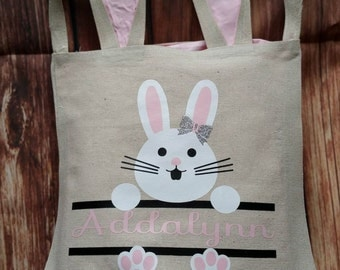 Easter Bunny Personalized Bags/Buckets