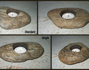 "River Rock Candle - Standard Single (over 5"")"