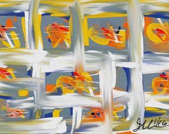 abstract painting, oil, crayon, modern art, northwest painting, hovering